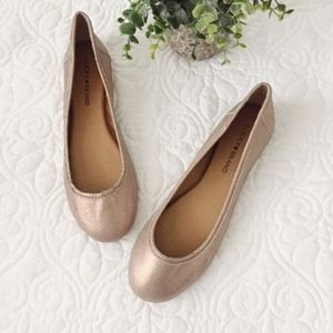 NEW Lucky Brand | Rose Gold Slip On Flat 9.5